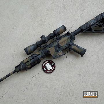 Cerakoted Dpms Rifle In A Cerakote Splinter Camo Finish