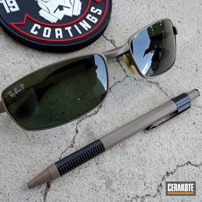 Ray-Ban Sunglasses and Matching Pen finished with Cerakote H-267
