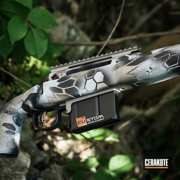 Cerakoted Savage Arms Bolt Action Rifle With An Aird Kryptek Camo