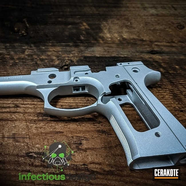 "Thumbnail image for project ""Satin Aluminum Cerakote on this Beretta Frame"""