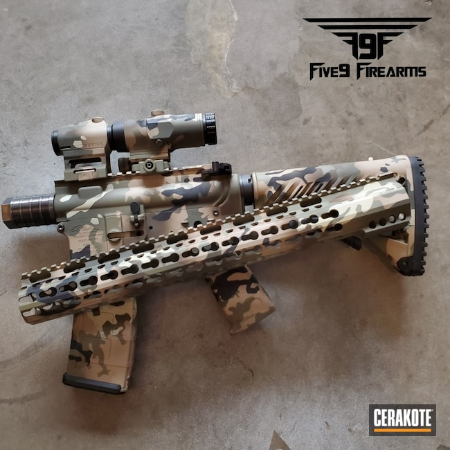 Cerakote MultiCam on this AR-15 Rifle