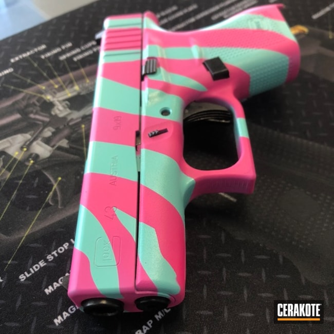 Glock 43 Handgun in a Custom Zebra Finish