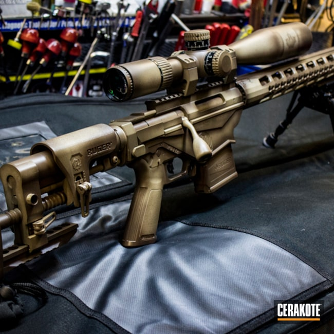 Custom Camo on this Ruger Precision 6.5 Bolt Action Rifle