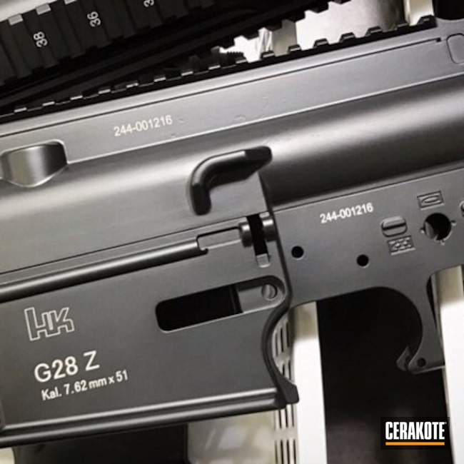 HK Upper / Lower in Cerakote Graphite Black