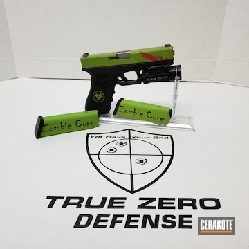 Cerakoted H-168 Zombie Green And H-109 Gloss Black