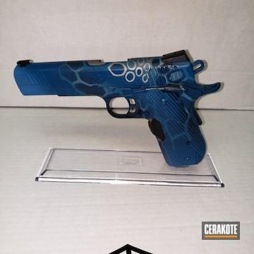 Cerakoted H-170 Titanium, H-172 Sea Blue And H-169 Sky Blue