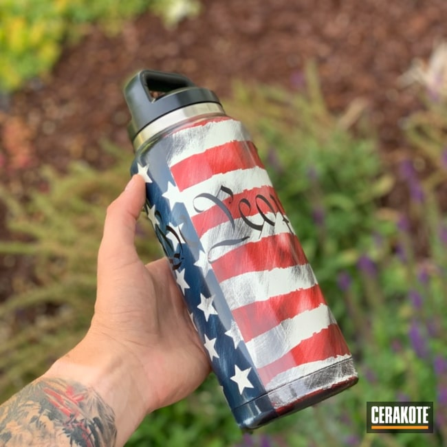 "Thumbnail image for project ""YETI Cup with an American Flag Cerakote Finish"""