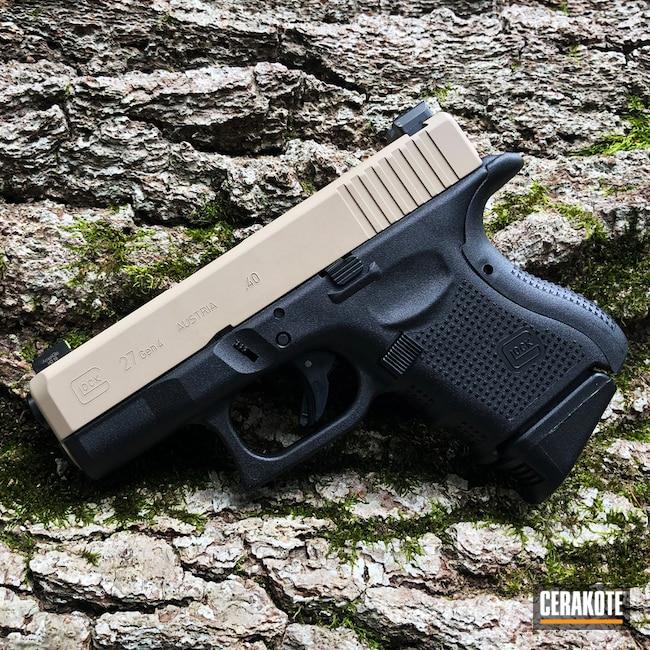 Cerakoted: Glock 27 Gen4,Desert Sand H-199,Two Tone,Pistol,Glock,Glock 27,Glock Gen 4