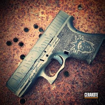 Cerakoted Battleworn Glock 30s Handgun