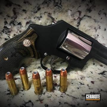 Cerakoted Smith & Wesson Revolver With Cerakote H-146