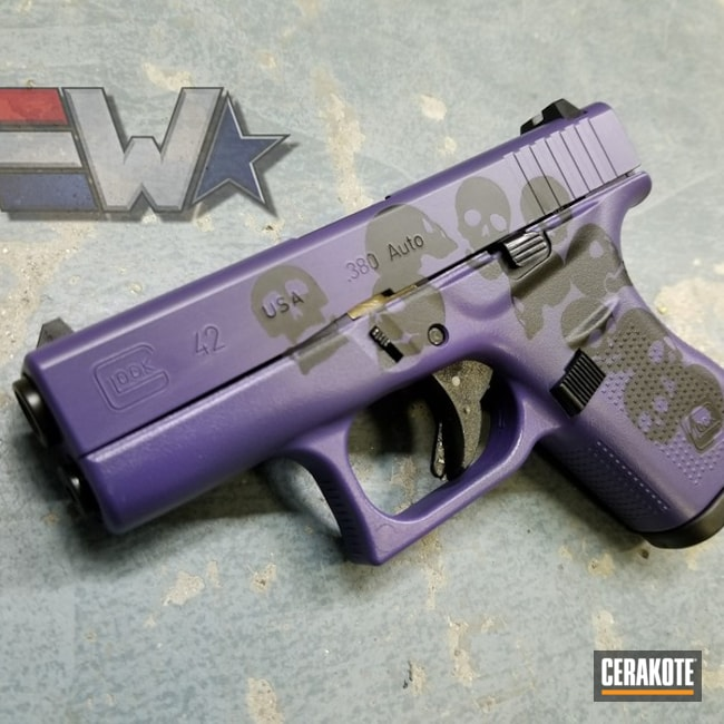 "Thumbnail image for project ""Cerakoted Glock 42 using Bright Purple and Graphite Black"""