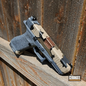Cerakoted Glock 45 Handgun In A Kuiu Vias Camo Finish