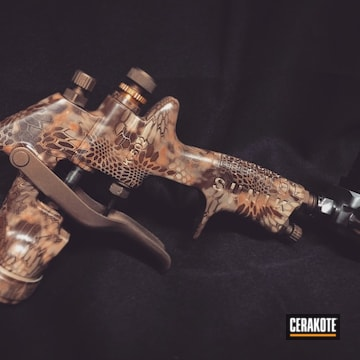 Cerakoted H-148 Burnt Bronze And Mc-161 Matte Ceramic Clear