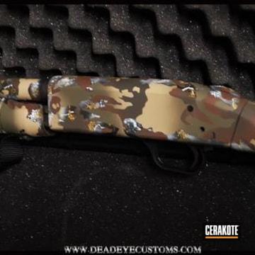 Cerakoted Custom Cerakote Camo Finish On This Mossberg Shockwave Shotgun