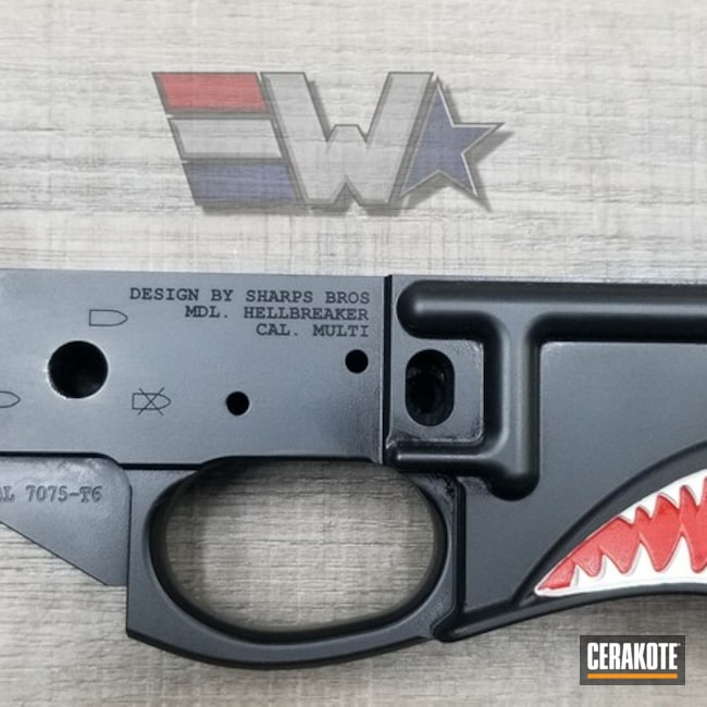 "Thumbnail image for project ""Custom Cerakoted Hellbreaker Lower Receiver"""