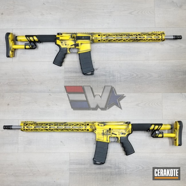 "Thumbnail image for project ""Battleworn Tactical Rifle in Armor Black and Corvette Yellow"""