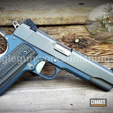 Cerakoted 1911 Handgun With Cerakote H-237 And H-295