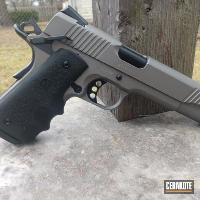 Kimber 1911 with Cerakote Stainless and Gloss Black