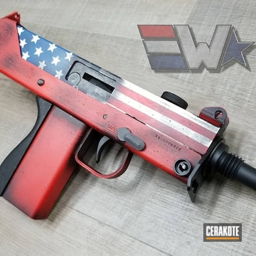 Cerakoted Battleworn American Flag Finish