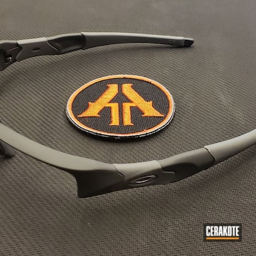 Cerakoted Oakley Sunglass Frame Cerakoted With H-214 Smith & Wesson Grey
