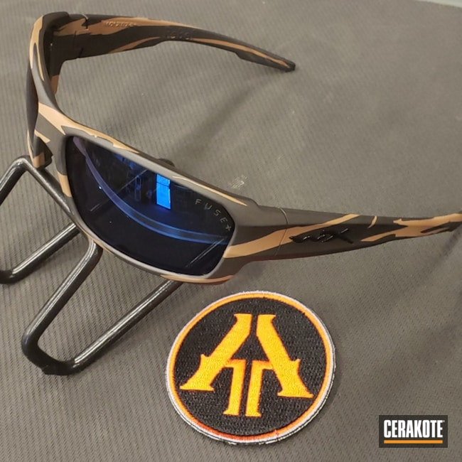 Cerakoted: Sunglasses,Mud Brown H-225,Graphite Black H-146,Two Tone,More Than Guns,Wiley X,Custom Camo