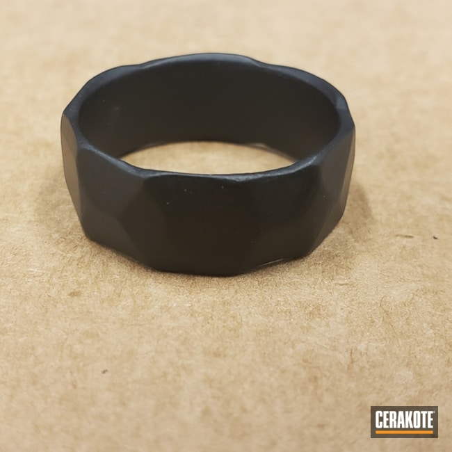 Wedding Band in E-100 Blackout