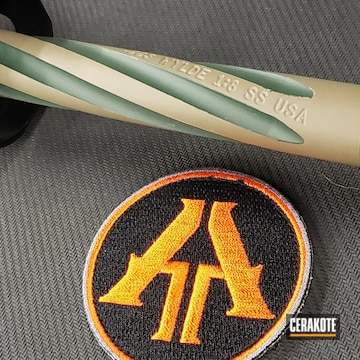 Cerakoted Fluted Barrel With Cerakote Two Toned Color Fill