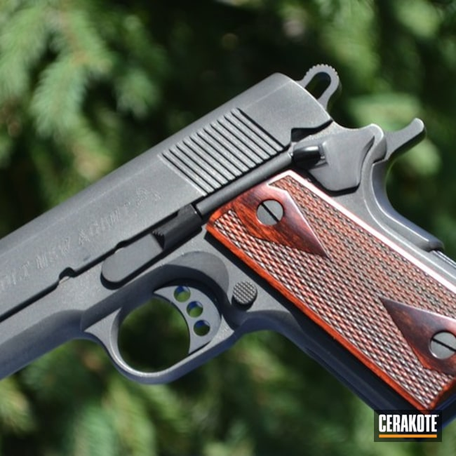 "Thumbnail image for project ""Colt Handgun with Cerakote H-146 Graphite Black and H-237 Tungsten"""