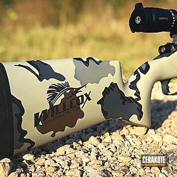 Cerakoted Cerakote Kuiu Camo On This Remington 700 Rifle