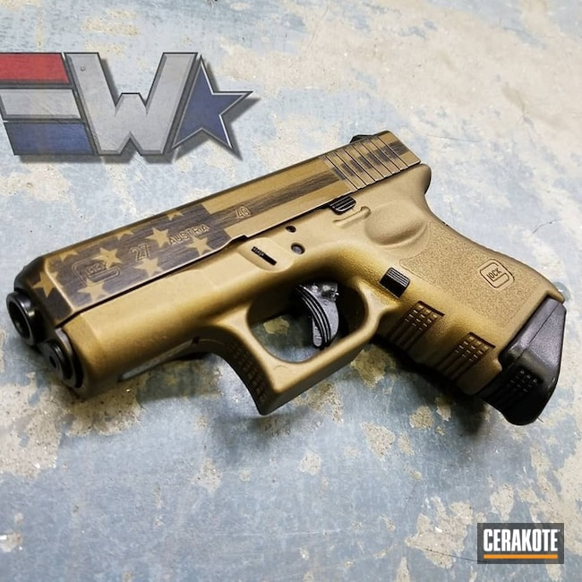 "Thumbnail image for project ""Glock 27 Battleworn Cerakote American Flag"""