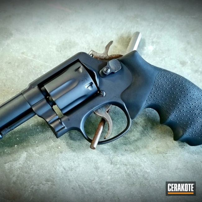 Cerakoted: Graphite Black H-146,Revolver,Wheel Gun