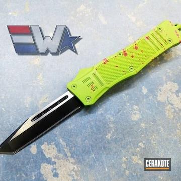 Cerakoted Zombie Blood Splatter Otf Knife