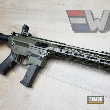 Cerakoted Odinworks Ar Pistol In Cerakote Mil Spec O.d. Green