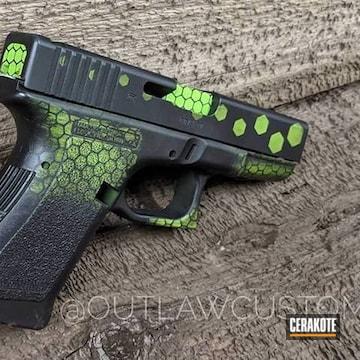 Cerakoted Cerakote Hex Camo In Zombie Green And Armor Black