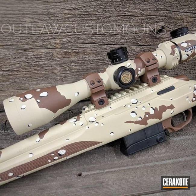 Beretta Tikka T3 Bolt Action Rifle in a Custom Desert Camo Finish