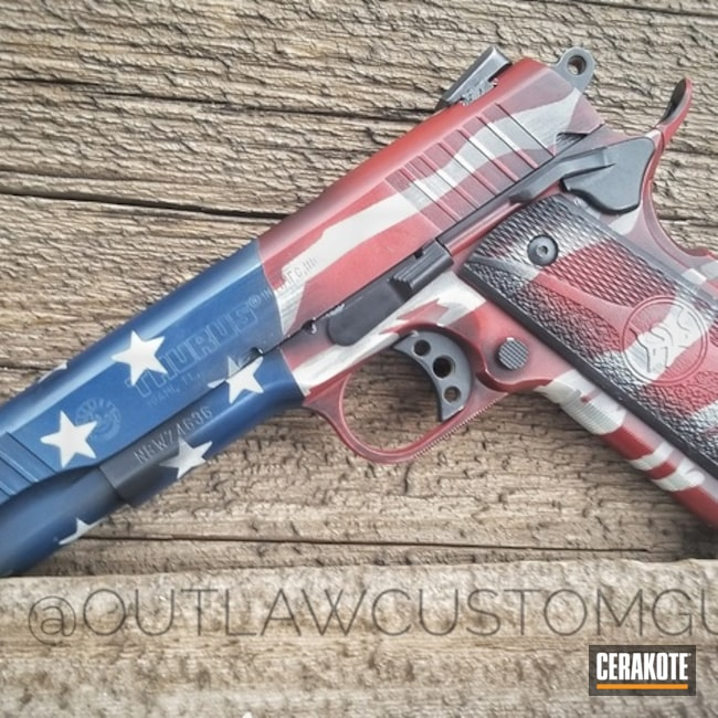 American Flag Finished Taurus 1911 Handgun