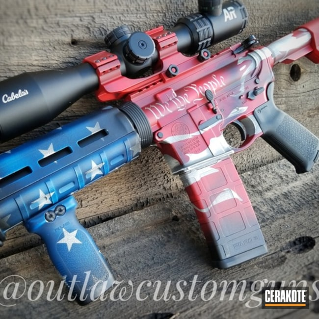Distressed We The People / American Flag Cerakote Finish