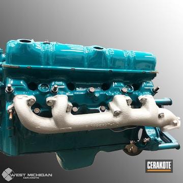 Cerakoted C-105 Titanium On This Hagerly Engine Manifolds
