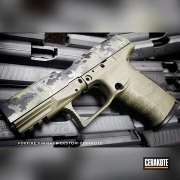 Cerakoted Walther Ppq With Custom Cerakote Multicam