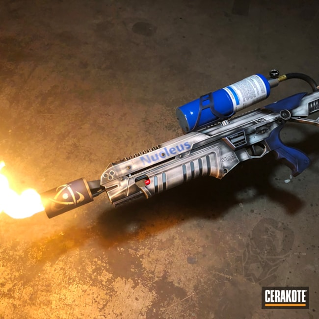 Custom Flame Thrower with and Cerakoted in H-140, H-146 and H-171