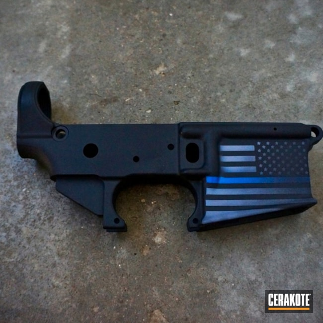 "Thumbnail image for project ""Thin Blue Line Lower Receiver"""