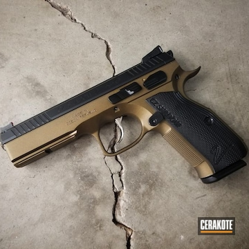 Cerakoted Two Toned Cz Shadow 2 In Burnt Bronze And Graphite Black