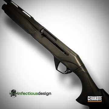 Cerakoted Distressed Cerakote Graphite Black And Magpul O.d. Green Finish