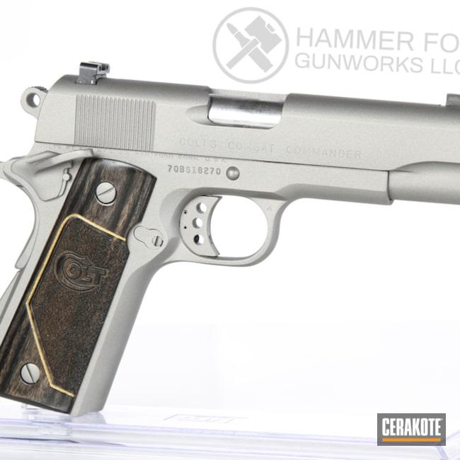 Cerakoted Colt 1911 Handgun In Cerakote H-170 Titanium
