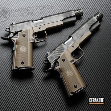 Cerakoted Metro Arms 1911 Handguns And Battleworn Cerakote Finish