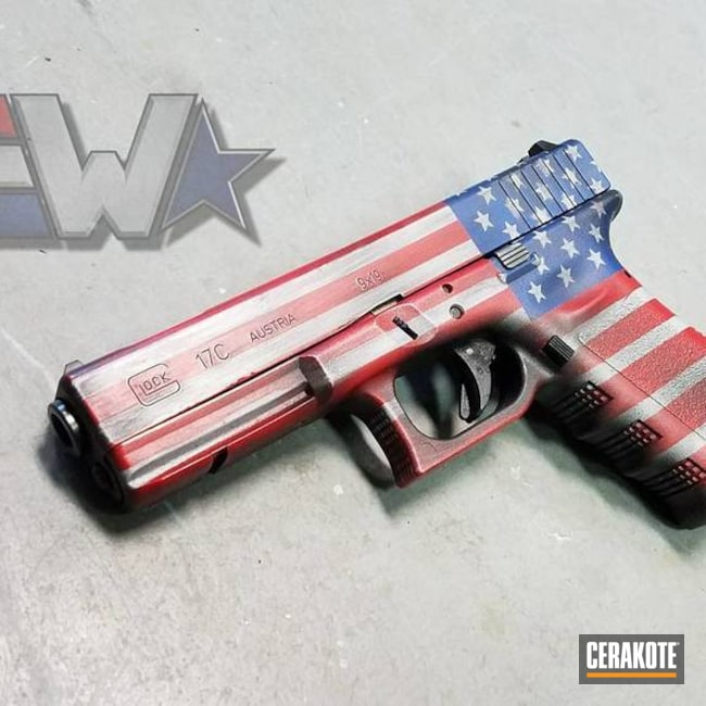 "Thumbnail image for project ""American Flag Cerakote Coating on this Glock 17C"""
