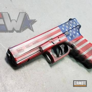 Cerakoted American Flag Cerakote Coating On This Glock 17c