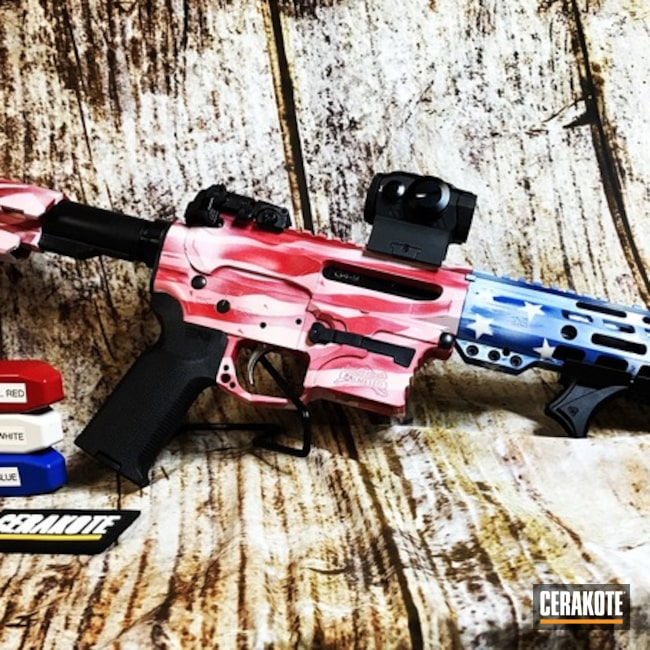 Distressed American Flag Palmetto State Armory Rifle