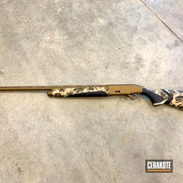 Cerakoted Old School Beretta Shotgun Camo