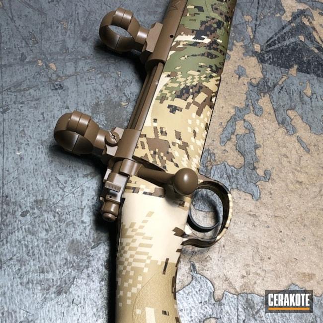 Cerakoted: Rifle,Bolt Action Rifle,20150 E-190,Barreled Action,Gun Coatings,Scope Rings